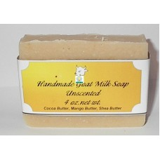 Goat Milk Soap Unscented 10 - 4 oz bars